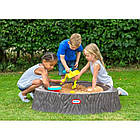 Дитяча пісочниця з кришкою Little Tikes Лісовий пеньок пластикова для дітей, фото 2