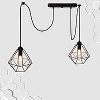 Подвесной светильник на 2-лампы CLASSIC/SP-2 E27 чёрный, фото 1