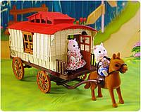 Трейлер с лошадкой и семейкой Happy Family 012-05, фото 1