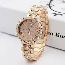 Жіночі наручні годинники з камінням Рожеве золото