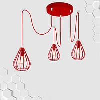 Подвесная люстра на 3-лампы FANTASY/SP-3R E27 красный, фото 1
