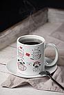 """Чашка з принтом """"Картинки про кохання"""", фото 2"""