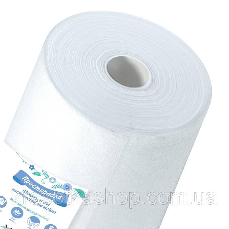 Одноразовая простынь в рулоне Panni Mlada 0,8*100м спанбонд 20 г/м2, белый