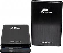 "Внешний карман Frime SATA HDD/SSD 2.5"", USB3.1 Type-C, Metal, Black (FHE40.25U31)"