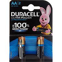Батарейки Duracell індикатор заряду Ultra Power LR-06/блістер 2шт
