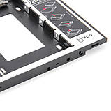 Кишеня для установки другого жорсткого диска SATA HDD в відсік DVD 9.5 мм SATA (optibay caddy) (5395), фото 7
