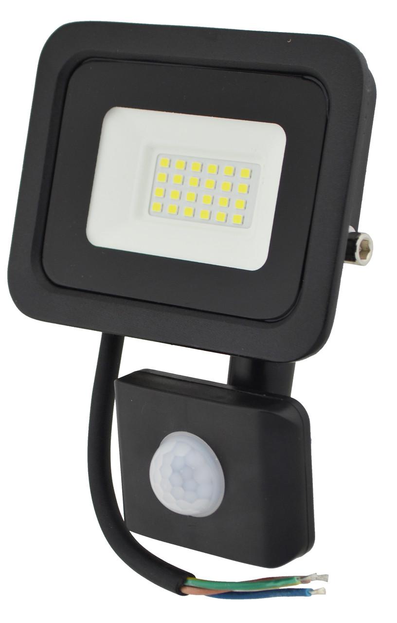Прожектор LED c датчиком руху Ritar RT - FLOOD/MS 20A 20W IP65 2000Lm Black (01203)