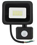 Прожектор LED c датчиком руху Ritar RT - FLOOD/MS 20A 20W IP65 2000Lm Black (01203), фото 2