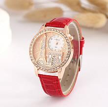 Жіночі наручні годинники з вежею Червоний