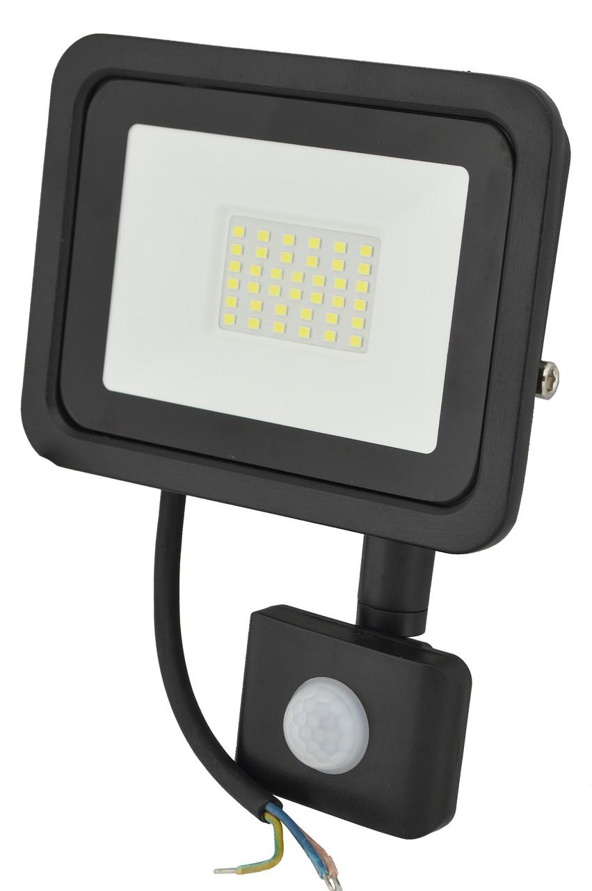 Прожектор LED c датчиком движения Ritar RT- FLOOD/MS 30A 30W IP65 3000Lm Black (01204)
