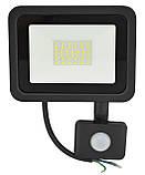 Прожектор LED c датчиком движения Ritar RT- FLOOD/MS 30A 30W IP65 3000Lm Black (01204), фото 2