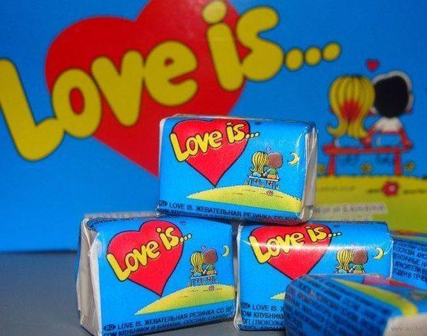 "✨Жувальна гумка ""Love Is..."" Банан-Полуниця упаковка 100 шт. хороший подарунок коханим💕✨"