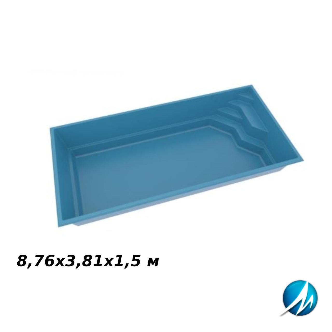 Скловолоконна чаша XL-BRILIANT 88, 8,76х3,81х1,5 м