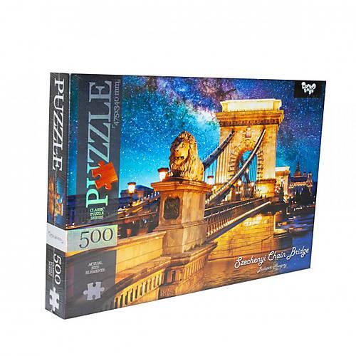 Пазлы Цепной мост Будапешт Венгрия 500 элементов DANKO TOYS C500-12-06