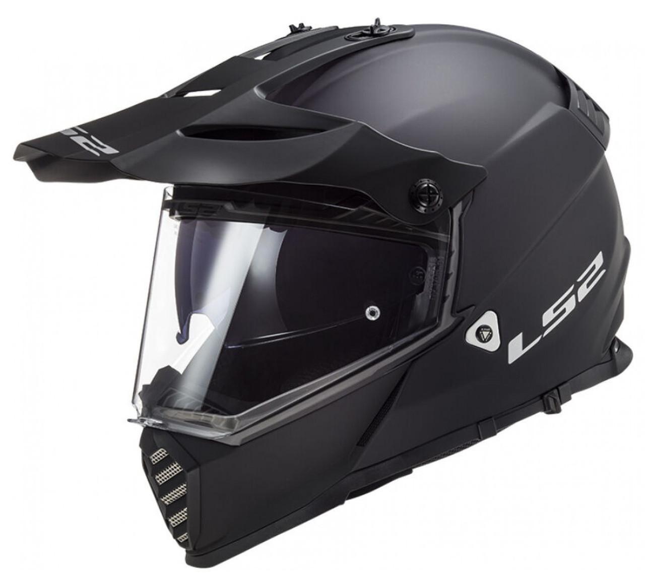 Мотошлем LS2 MX436 Pioneer Evo матовый черный, M