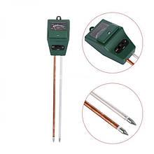 Измеритель кислотности pH, влажности, освещенности почвы, влагомер ЕТП-301 (3 в 1)