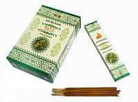 Благовония натуральные индийские аромапалочки Базилик Ayurvedic Basil 20 грамм