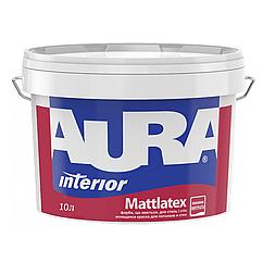 Латексная краска для стен и потолка Aura Mattlatex 10л