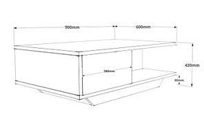 Журнальний столик Aspen 90 x 42 x 60 cm, фото 3