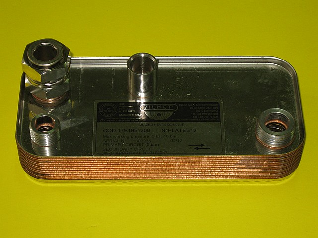 Теплообменник вторичный 24 кВт Hermann Supermicra, Micra 2