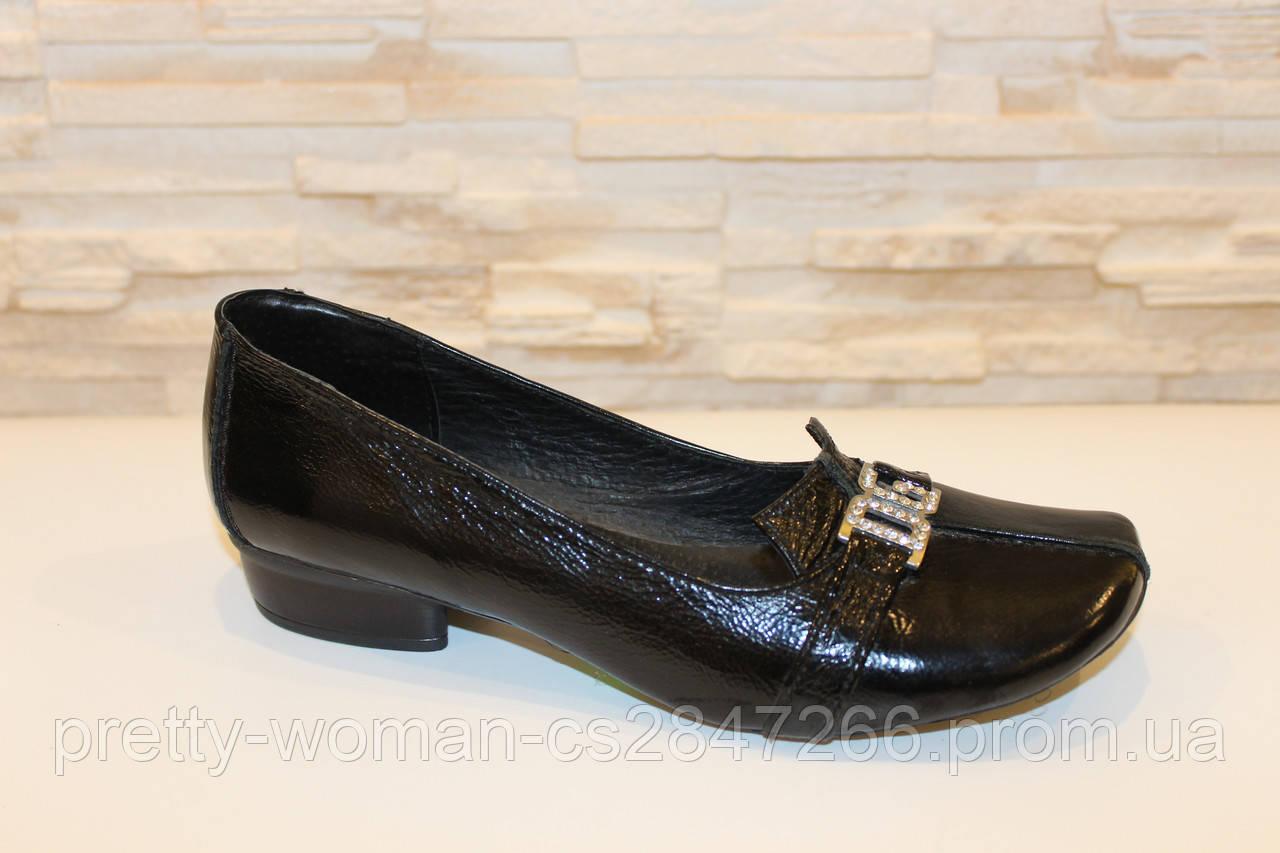Туфлі жіночі чорні натуральна шкіра Т63 Уцінка