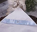 """Крестильная крыжма """"Ангел"""", белая с голубым, фото 2"""