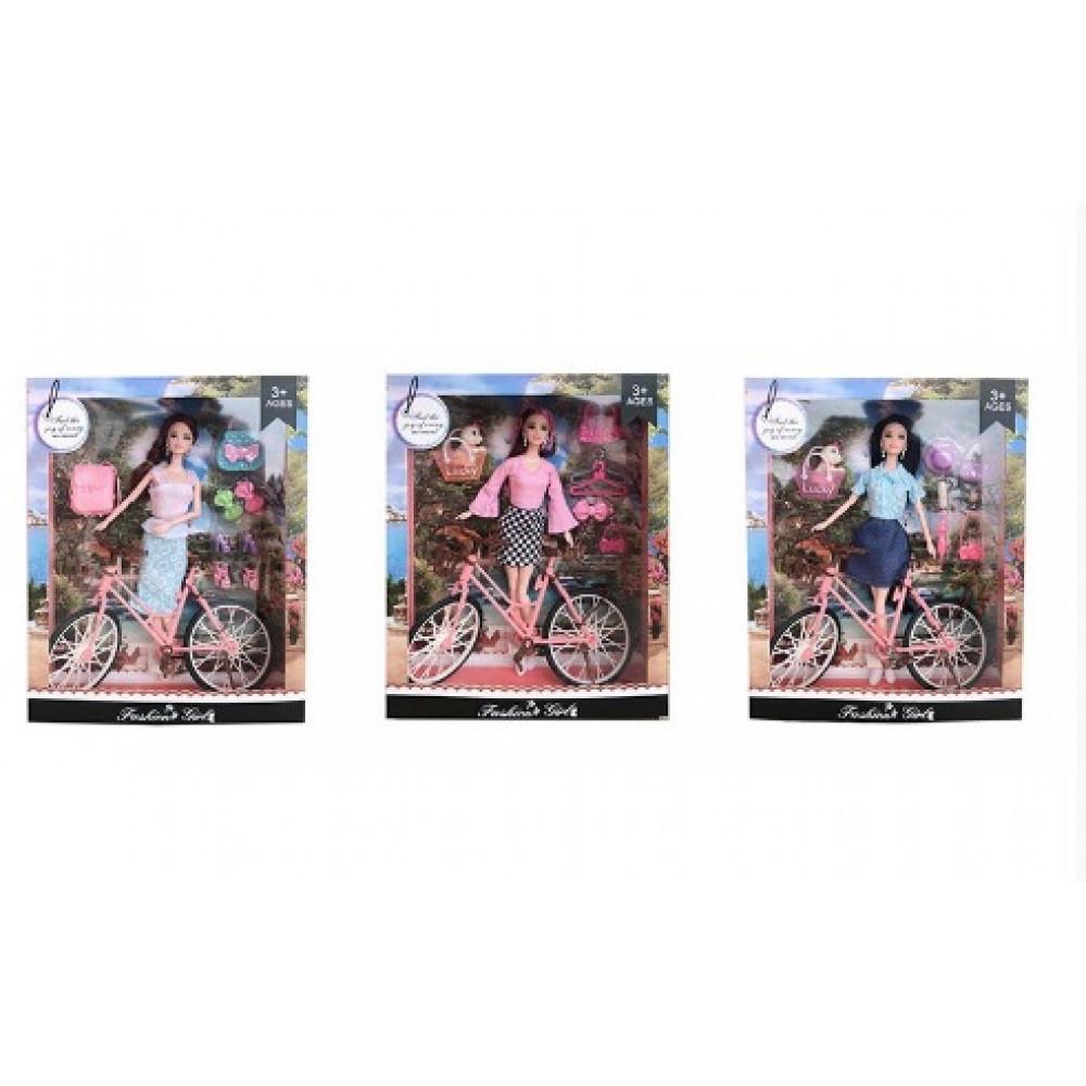 "Лялька ""Барбі"" велосипед,сумка HX2099A"