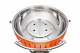 LotusGrill XХL Бездимний вугільний гриль на колесах, фото 4