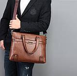 Чоловічий діловий портфель сумка Jeep, фото 9