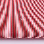 """Відріз тканини з дрібною смужкою """"Бамбук"""" червоного кольору, №3224, розмір 80*160 см, фото 2"""