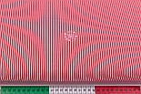"""Відріз тканини з дрібною смужкою """"Бамбук"""" червоного кольору, №3224, розмір 80*160 см, фото 3"""