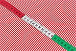 """Відріз тканини з дрібною смужкою """"Бамбук"""" червоного кольору, №3224, розмір 80*160 см, фото 4"""