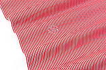 """Відріз тканини з дрібною смужкою """"Бамбук"""" червоного кольору, №3224, розмір 80*160 см, фото 5"""