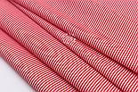 """Відріз тканини з дрібною смужкою """"Бамбук"""" червоного кольору, №3224, розмір 80*160 см, фото 6"""