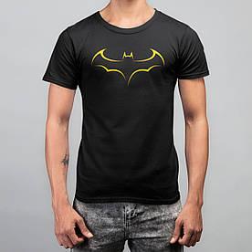 """Футболка чоловіча чорна з принтом """"Batman"""" M"""