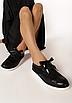 Туфлі жіночі чорні на шнурках Т067, фото 3