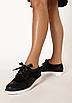 Туфлі жіночі чорні на шнурках Т067, фото 4