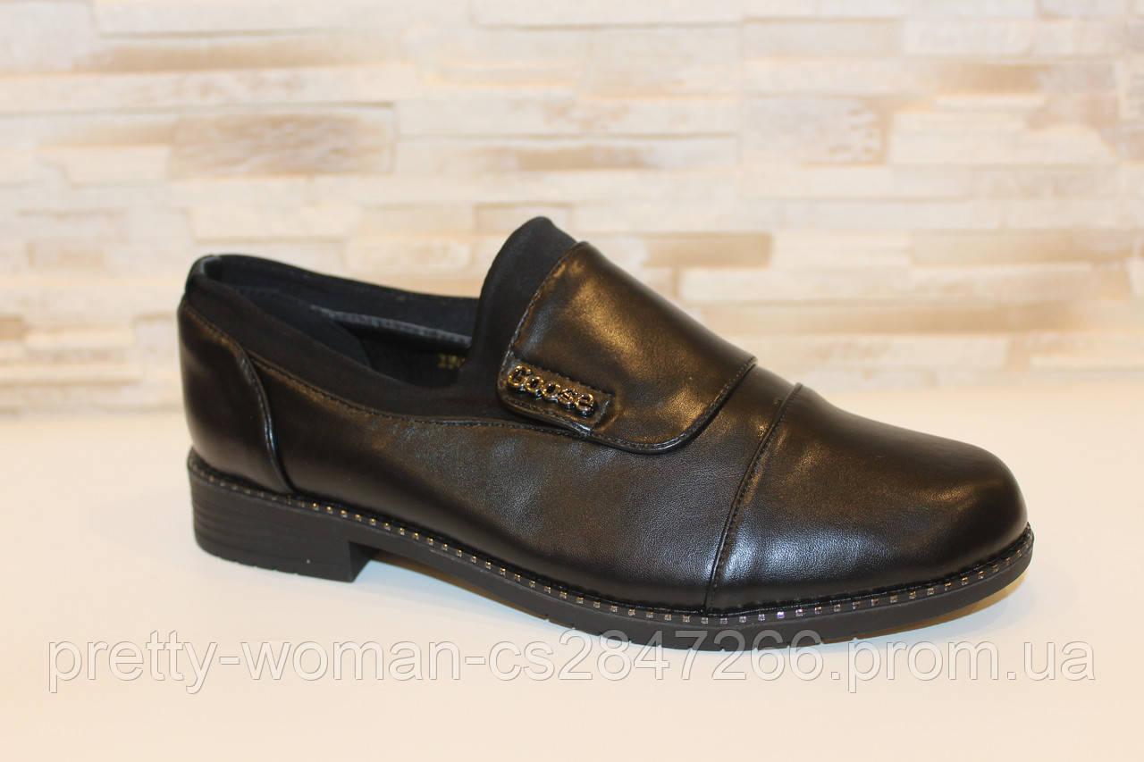 Туфли женские черные Т077
