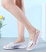 Туфлі мокасини білі з рожевим жіночі натуральна шкіра Т1067, фото 6