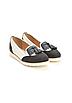 Туфли лоферы женские белые с черным Т1047, фото 7