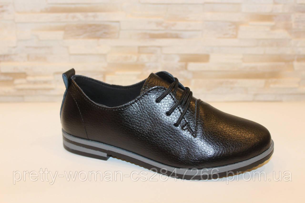 Туфлі жіночі чорні натуральна шкіра код Т1113