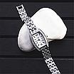 Женские наручные часы с серебристым браслетом код 512, фото 4