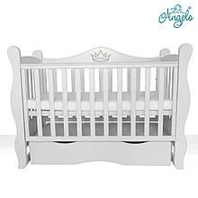 Детская кроватка -диван Angelo Lux -10 белый