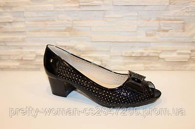 Туфлі жіночі чорні жіночі на підборах код Б126