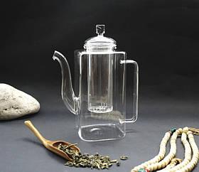 9200072 Чайник стекло + сито стекло 950мл.