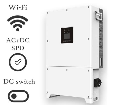 Сетевой инвертор трехфазный 50кВт Axgrid-50/67 Axioma energy + Wi-Fi модуль, фото 2