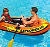 Полутораместная надувная лодка Intex Explorer 200, 185х94 см, с веслами и насосом, фото 5
