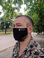 Печать логотипа на многоразовых масках