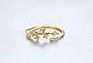 Позолоченное женское кольцо с кристаллами код 1782, фото 2
