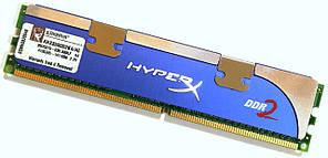 Игровая оперативная память Kingston HyperX DDR2 1Gb 1066MHz 8500U CL5 (KHX8500D2K4/4G) Б/У